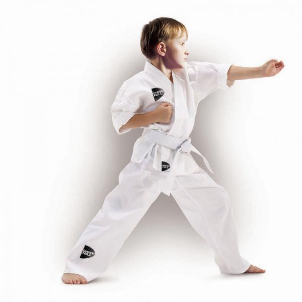 Детское кимоно Каратэ JUNIOR, 130 Green HillЭкипировка для Каратэ<br>Материал: ХлопокВиды спорта: КаратэКимоно для занятий каратэ, детское. В отличии от взрослых вариантов, соответствующие ростовки, выполнены с соблюдением пропорций, отличающих взрослого от подростка. Материал: хлопок. Пояс в комплекте.<br>