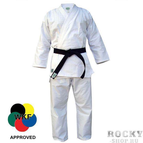 Кимоно карате KUMITE, одобрено WKF, 170 Green HillЭкипировка для Каратэ<br>Материал: ХлопокВиды спорта: КаратэЛегкое кимоно для каратэ (кумитэ) из полусинтетической ткани. Одобрено WKF. Длинная просторная куртка с двойной строчкой. Длинные брюки крепятся вставным шнуром. Многострочная прошивка всех кромок. Производство: Green Hill (Пакистан). Материал: поликоттон (70% хлопка и 30% синтетики) плотностью 230 г/м (8 унций)Комплектация: куртка и брюки, без пояса. В комплект не включен белый пояс, т. к. он не всегда нужен. Белый, цветной или черный пояс, с вышивкой или без, можно заказать отдельно.<br><br>Цвет: Белый