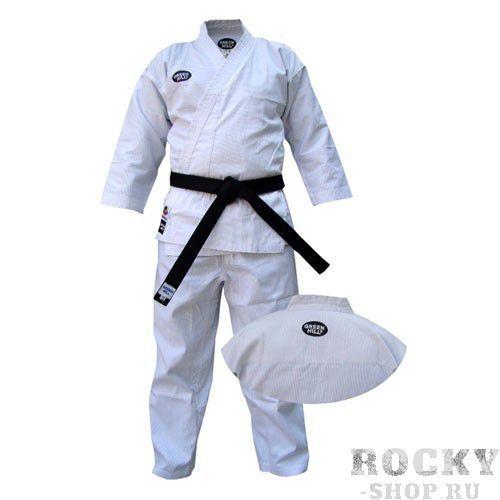 Кимоно каратэ olimpic, 190 Green HillЭкипировка для Каратэ<br>Материал: ХлопокВиды спорта: КаратэКимоно для занятий карате OLIMPIC. Материал: 100% хлопок, с поясом. Предназначено для тренировок. Плотность брюки - 340 г/мПлотность куртки - 570 г/м<br><br>Цвет: Белый