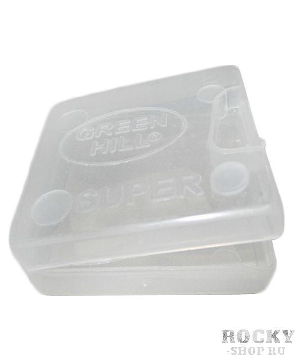 Коробочка для капы, Универсальный Green HillБоксерские капы<br>Материал: Мягкий пластикВиды спорта: Каратэ, Таэквондо, Самбо, Рукопашный бой, Дзюдо, Кикбоксинг, БорьбаКоробочка для капы Green Hill MGB-4613 Super, сделана из прозрачного пластика, размер: 6,5см х 6,5см, закрывается на замочке, предотвращая выпадение капы, сохраняя ее в чистоте. Предназначен для варки.<br>