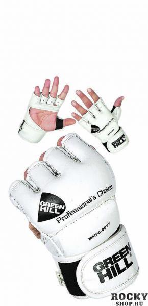 Перчатки MMA PROFESSIONAL CHOICE, Белый Green HillПерчатки MMA<br>Материал: Натуральная кожаВиды спорта: MMAПерчатки для боев без правил и грэплинга Green Hill выполнены натуральной кожи. Размеры:Замерьте обхват ладони сантиметровой лентой в наиболее широком месте, исключив при этом большой палец руки Размер: S M L XLОбхват ладони, см. 17-18 18-19 19-22 23-27<br><br>Размер: XL