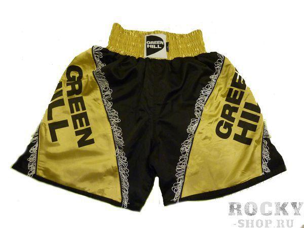 Шорты для MMA, Черный/золотой Green HillШорты ММА<br>Материал: ПолиэстерВиды спорта: ММАШорты для занятия смешанными единоборствами. Материал: 100% полиэстер.<br>