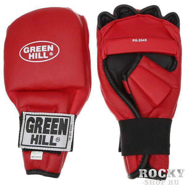 Перчатки для рукопашного боя(кун-фу), Красный Green HillЭкипировка для кунфу<br>Перчатки для рукопашного боя (кун-фу)произведены из качественной искусственной кожиКонструкция предусматривает открытые пальцы — необходимый атрибут для проведения захватовМанжеты на липучках позволяют быстро снимать и надевать перчатки без каких-либо неудобствАнатомическая посадка предохраняет руки от повреждений.<br><br>Размер: XL