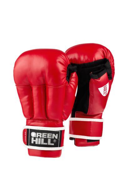 Перчатки для рукопашного боя Green Hill, Красные Green HillЭкипировка для рукопашного боя<br>Перчатки для рукопашного боя Green Hill выполнены из искусственной кожи, что благоприятно сказывается на цене перчаток. Оптимальное сочетание цены и качества делает эти перчатки идеальными для детей, которые только начинают заниматься спортом. Манжет на липучке позволяет легко и быстро снимать и одевать перчатки на тренировке. Открытые пальцы позволяют выполнять захваты, что особенно важно в смешанных единоборствах.<br><br>Размер: L