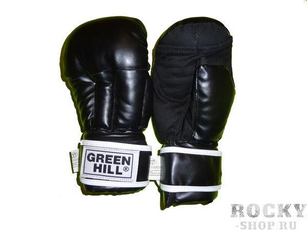 Купить Перчатки ударно-захватные для единоборств (2 прорези) Green Hill черный (арт. 9934)