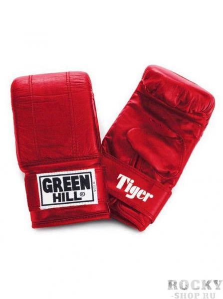 Перчатки снарядные TIGER, Красный Green HillCнарядные перчатки<br>Материал: Натуральная кожаСнарядные перчатки Tiger - одна из лучших моделей снарядных перчаток в мире от компании GREEN HILL. Такое звание перчатки заслужили не благодаря своему внешнему виду и красивой эмблеме, а исключительно благодаря своему качеству. Перчатки Tiger имея классическую форму и неброский дизайн, представляют из себя квинтэссенцию мощи, красоты и грации удара. А главным украшением этих перчаток является боец который их носит. Выполнены из натуральной кожи. Манжет на липучке. Размеры:Замерьте обхват ладони сантиметровой лентой в наиболее широком месте, исключив при этом большой палец руки Размер: S M L XLОбхват ладони, см. 17-18 18-19 19-22 23-27<br><br>Размер: L