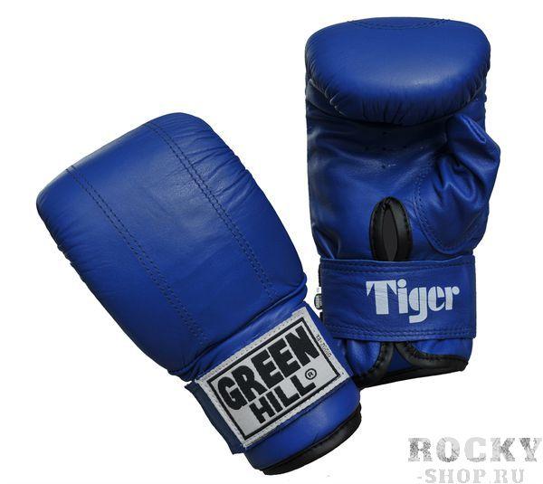 Перчатки снарядные TIGER, Синий Green HillCнарядные перчатки<br>Материал: Натуральная кожаСнарядные перчатки Tiger - одна из лучших моделей снарядных перчаток в мире от компании GREEN HILL. Такое звание перчатки заслужили не благодаря своему внешнему виду и красивой эмблеме, а исключительно благодаря своему качеству. Перчатки Tiger имея классическую форму и неброский дизайн, представляют из себя квинтэссенцию мощи, красоты и грации удара. А главным украшением этих перчаток является боец который их носит. Выполнены из натуральной кожи. Манжет на липучке. Размеры:Замерьте обхват ладони сантиметровой лентой в наиболее широком месте, исключив при этом большой палец руки Размер: S M L XLОбхват ладони, см. 17-18 18-19 19-22 23-27<br><br>Размер: S