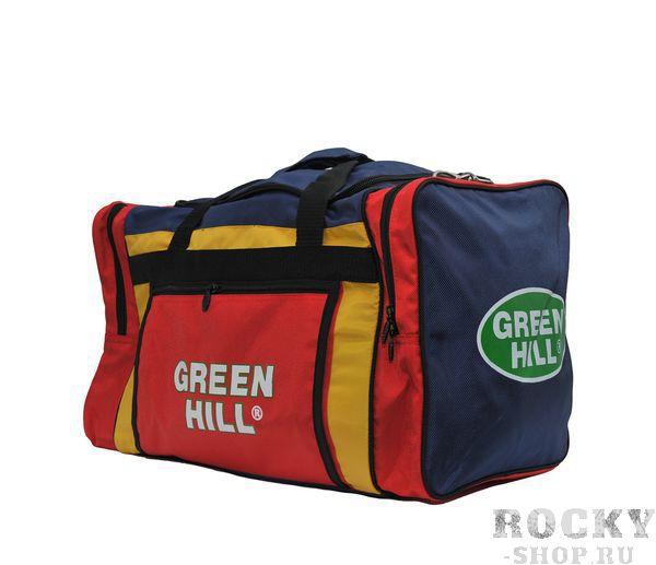 Спортивная сумка Green Hill SB-6421, размер L, 69*35*35 Green HillСпортивные сумки и рюкзаки<br>Материал: ХлопокВиды спорта: Дзюдо, Таэквондо, Каратэ, Рукопашный бой, Дзюдо, Самбо, БорьбаСумка спортивная. Размер 69*35*35<br>