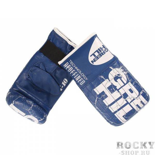 Купить Перчатки снарядные force кожа Green Hill синий (арт. 9962)