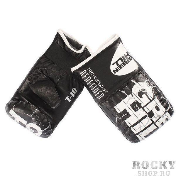 Купить Перчатки снарядные force кожа Green Hill черный (арт. 9963)