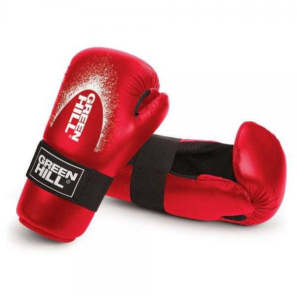 Купить Перчатки для кикбоксинга 7-contact Green Hill красный (арт. 9967)