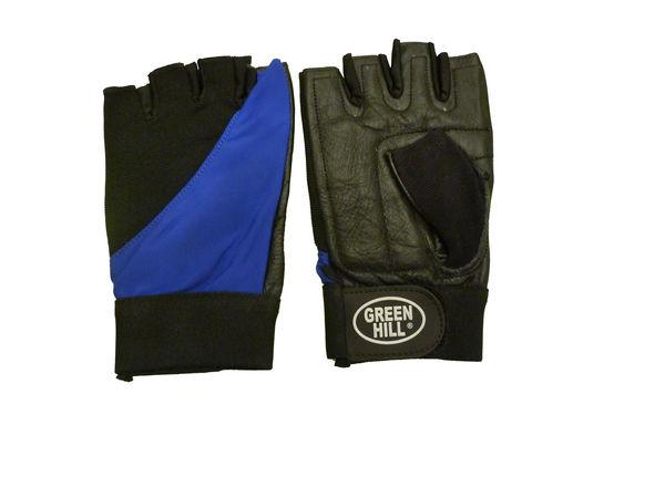 Перчатки для фитнеса wlg-6423 Green HillПерчатки для фитнеса<br>Перчатки вело/тяжелоатлетические. Сделаны из кожи. Верх плкрыт эластиком. На запястье ремень на липучке.<br><br>Размер: M