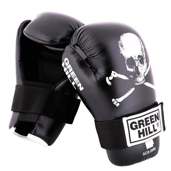 Перчатки 7-contact skull черные, Черный Green Hill фото