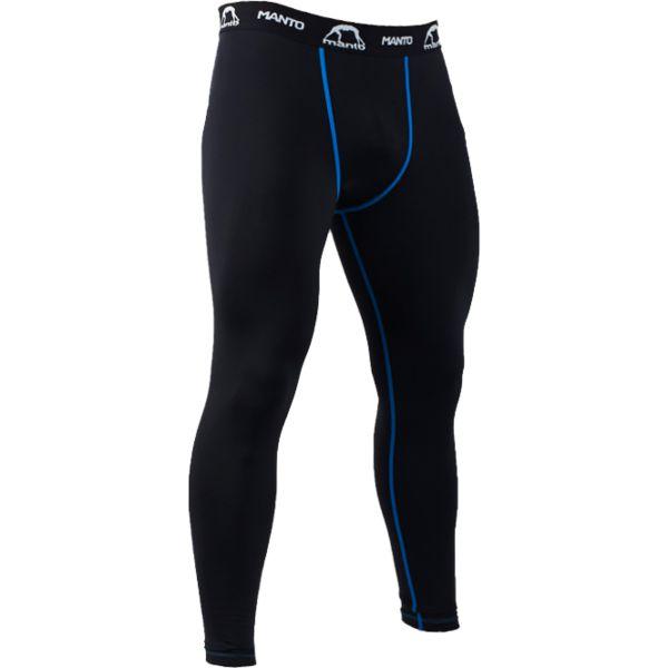 Компрессионные штаны Manto Basico Blue MantoКомпрессионные штаны / шорты<br>Компрессионные штаны Manto Basico. Ничего лишнего, никаких цветочков и черепов. Только тренировки, тренировки и тренировки. Обеспечивают комфорт в течении тренировки, который достигается путем компрессии мышц и защиты кожных покровов от трения. Долговечность и износостойкость обеспечивается благодаря высокому качеству используемого спандекса, полиуретановых нитей и многопанельной конструкции штанов. - Швы из эластичных нитей. - Сублимированная печать. - Эластичный пояс со шнурком. - Резинки внутри манжет на штанинах для лучшего сцепления с кожей. Антибактериальная пропитка ткани не даст развиваться неприятному запаху в леггинсах (при правильном уходе за ними). Уход: Машинная стирка в холодной воде, деликатный отжим, не отбеливать! Состав: полиэстер, эластан.<br><br>Размер INT: S