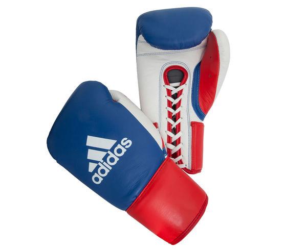 Перчатки боксерские Professional Russian Edition сине-красно-белые, 10 унций Adidas (adiBC16)