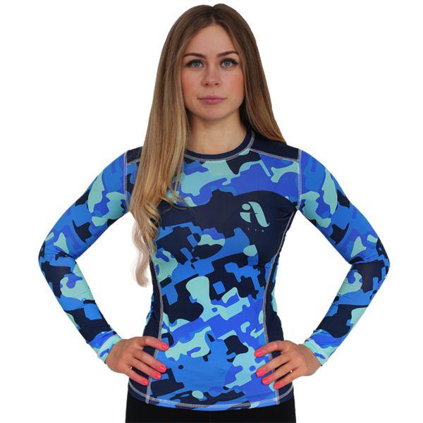 Женский рашгард Aim Military Uniqueness Skin Blue Aim