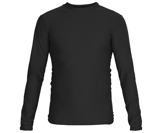 Футболка компрессионная (Рашгард) Rush Guard Long Sleeve, черная Adidas