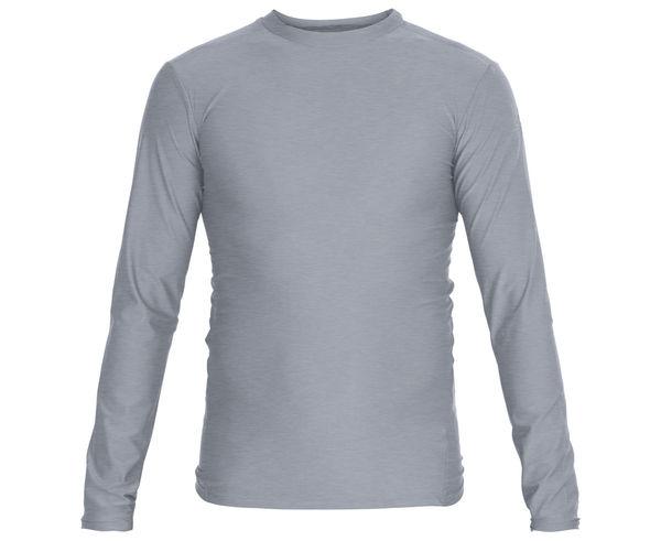 Футболка компрессионная (Рашгард) Rush Guard Long Sleeve, серая Adidas