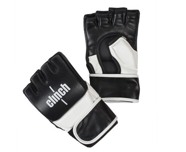 Перчатки для смешанных единоборств Clinch MMA, черно-белые Clinch Gear (C611)