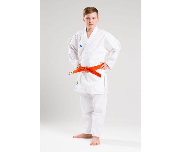 Детское кимоно для карате Club WKF, белое Adidas (K220-WKF)