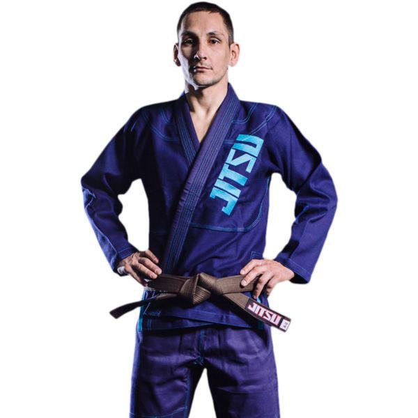Кимоно для БЖЖ Jitsu Navy JitsuЭкипировка для Джиу-джитсу<br>Кимоно для БЖЖ Jitsu Navy. Ги, отвечающее высоким стандартам качества. Великолепный вариант для борцов различного уровня: и для новичков, и для профессионалов. Особенности кимоно: • Куртка сделана из 1 куска 100% хлопка плотностью 550 г/кв. м. ; • Тип плетения ткани - pearl weave; • Кимоно усажено, но небольшая усадка возможна; • Пояс в комплект НЕ входит. Состав: 100% хлопок.<br><br>Размер: A3