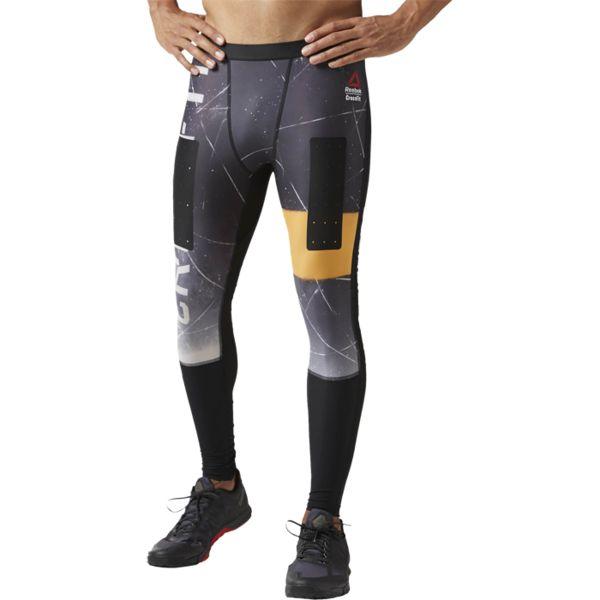 Компрессионные леггинсы Reebok CrossFit ReebokКомпрессионные штаны / шорты<br>Компрессионные леггинсы Reebok CrossFit. Материал: полиэстер / эластан для комфорта и поддержки. Компрессионный крой, идеально прилегающий к телу, обеспечивает максимальную поддержку мышц. Технология Speedwick отводит влагу с поверхности тела, оставляя ощущение сухости и комфорта. Вставки из суперпрочного материала Cordura для надежной защиты. Принты с логотипами Reebok CrossFit. Антибактериальная пропитка позволит не беспокоиться о запахе. Проклеенные вставки обладают высокой стойкостью к истиранию. Уход: машинная стирка в холодной воде, деликатный отжим, не отбеливать.<br><br>Размер INT: M