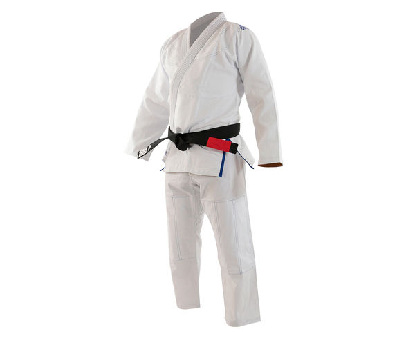 Кимоно для джиу-джитсу Challenge 2.0 белое AdidasЭкипировка для Джиу-джитсу<br>Кимоно (ГИ) для джиу-джитсу CHALLENGE 2. 0 JJ350_2. 0. ОтличноеГИ,специально разработано для любителей и профессионалов. Сделано из плотного и прочного 100% натурального хлопка высшего качества, плотностью 350g/m2. Куртка сшита из целого куска ткани, без шва на спине, тем самым обеспечивается прочность, комфорт и долговечность ГИ. Модель состоит из куртки и брюк. Детали: приталенная куртка,усиленные места в областях с высокой нагрузкой, вышитый логотип adidas на плече,брюки на кулиске из нейлонового шнурка с тремя полосам по бокам до середины бедра и крупным логотипом на штанине, двойное усиление ткани в местах колен. *ГИидет без пояса. Пояс продается отдельно. Подходит для любого уровня спортсмена. Непревзойденное качество, долговечность и комфортПлотная, гибкая и прочная ткань. Специально усиленные места в областях с высокой нагрузкой. Плотность: 350 g/m2Материал: 100% хлопок высшего качестваУсиленный ворот. Идеально сочетание цены и качества!<br><br>Размер: A2