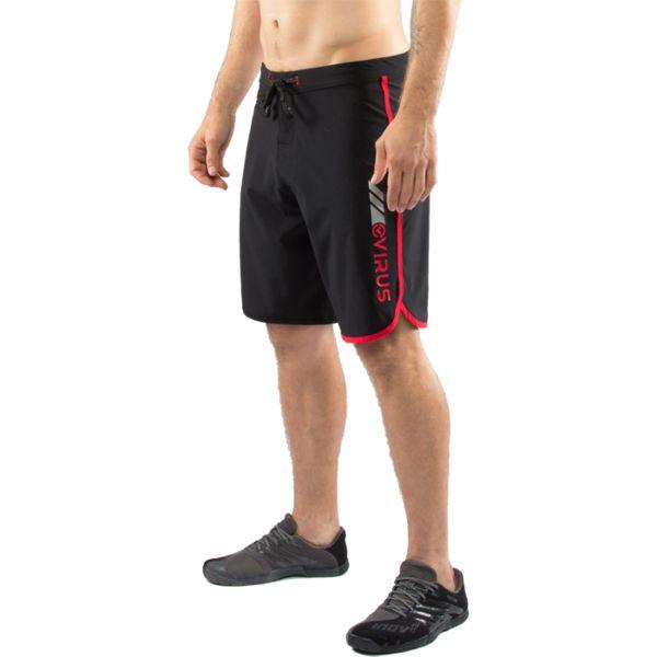 Спортивные шорты Virus Airflex VirusСпортивные штаны и шорты<br>Спортивные шорты Virus Airflex. Серия Airflex обладают укороченным швом для обеспечения большей мобильности ног. За счёт особенностей ткани шорты хорошо отводят влагу и быстро сохнут. Использованы материалы, которые не благоприятствуют размножению микробов, из-за которых и возникает неприятный запах. При использовании шорт не возникает сковывания. Предназначены для занятий кроссфитом, фитнесом, железным спортом, бегом и т. д. . Уход: машинная стирка в холодной воде, деликатный отжим, не отбеливать.<br><br>Размер INT: M