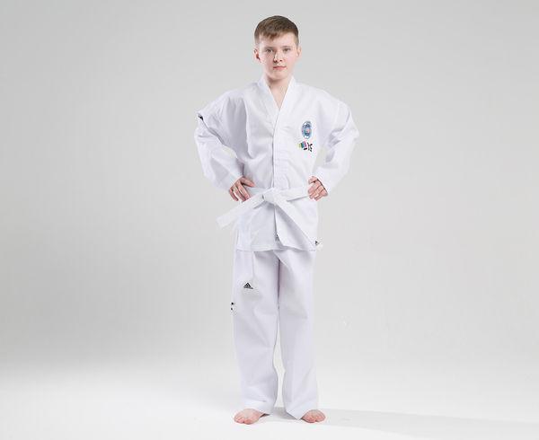 Добок для тхэквондо с поясом ITF Student Dobok белый Adidas (adiTITF01)