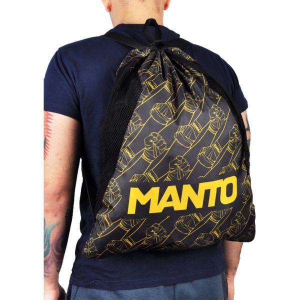 Спортивный мешок Manto Fist MantoСпортивные сумки и рюкзаки<br>Спортивный мешок Manto Fist. Лёгкий спортивный мешок для переноски экипировки. Прекрасно послужит как для походов в спортзал, так и для поездок на отдых и в путешествиях. Отлично подойдет для переноски ги, обуви, одежды, перчаток. Размеры рюкзака: 55 х 45 см Материал: 100% полиэстер.<br>