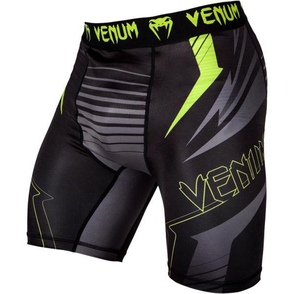 Компрессионные шорты Venum SHARP 3.0 VenumКомпрессионные штаны / шорты<br>Компрессионные шорты Venum SHARP 3. 0. Компрессионные шорты от Venum созданы для грепплинга, мма (смешанных единоборств), кроссфита, бега, работой с железом. Компрессия шорт Venum способствует кровотоку, тем самым повышая мышечную производительность. Другим преимуществом шорт Venum является то, что он избавляет от мелких травм, таких как царапины, ссадины, ожоги. Также шорты защищают от микробов. Компрессионные шорты сделаны из смеси синтетических тканей. Такой материал очень прочен и долговечен, а также очень быстро сохнет, что позволит вам использовать шорты регулярно. Швы плоские, не натирают кожу. Компрессионные шорты Venum можно использовать как совместно со спортивными шортами, так и отдельно от них. Ткань очень приятная на ощупь. Уход: машинная стирка в холодной воде, деликатный отжим, не отбеливать. Состав: 100% полиэстер. &lt;br<br><br>Размер INT: XL