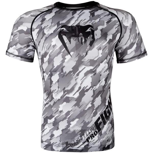 Рашгард Venum Tecmo S/S -Black/Grey Venum