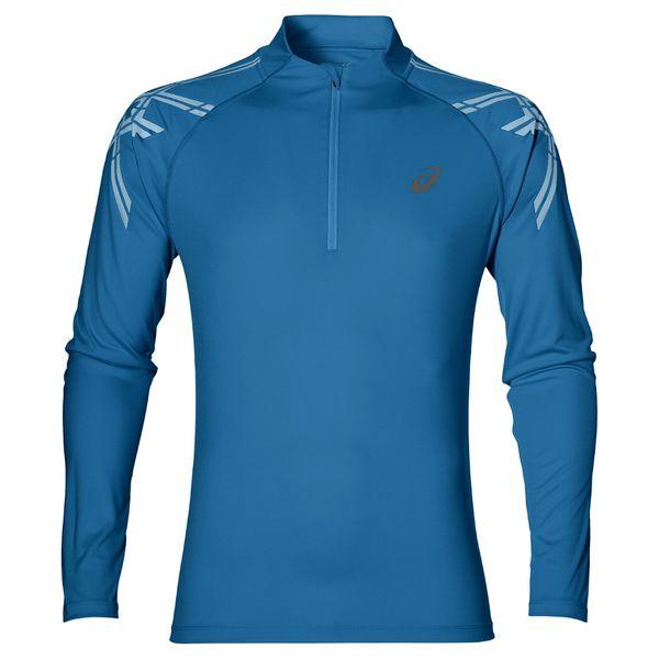 Беговая рубашка Asics 141203 8154 Asics stripe 1/2 zip  AsicsТолстовки / Олимпийки<br>Беговая рубашка ASICS 141203 8154 ASICS STRIPE 1/2 ZIP•Беговая рубашка или лонгслив имеет стильную расцветку и украшена небольшим логотипом ASICS на груди. •Рубашка выполнена из прочной ткани, в состав которой входит волокна полиэстера, что обеспечивает высокие эксплуатационные характеристики, прочность, износостойкость и эластичность. •Технология Motion Dry позволяет коже свободно дышать, отводит влагу и сохраняет тело в сухости и при этом припятствует образованию неприятного запаха. •Рубашка имеет прямой классический крой, она комфортно сидит на теле, не сковывая и не ограничивая свободы движений во время занятий. •Светоотражающие элементы обезопасят вас в условиях плохой видимости.<br><br>Размер INT: S