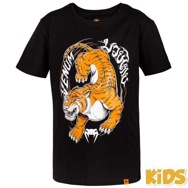 Футболка детская Venum Tiger King - Black VenumФутболки<br>Детская футболка Venum Tiger Kingcделана из премиум хлопка, чтобы обеспечить максимальный комфорт, а интересный дизайн подчеркнет характер ваших учеников.<br><br>Размер INT: 14