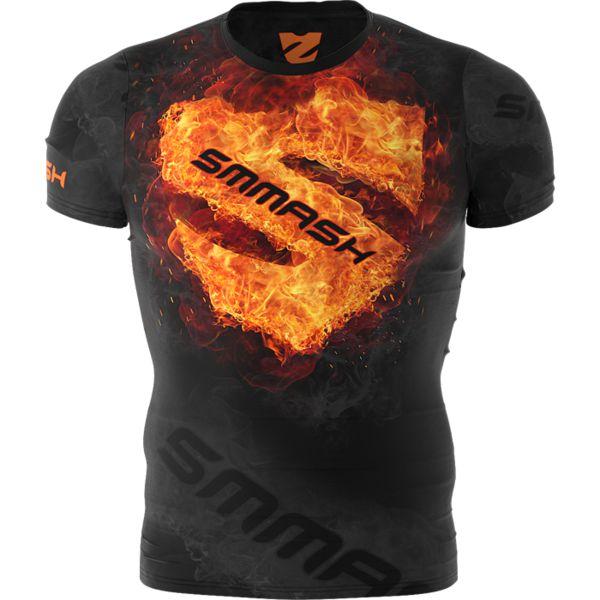 Тренировочная футболка Smmash Fire Smmash FightwearФутболки<br>Тренировочная футболка Smmash Fire. Лёгкая и удобная футболка для тренировок. Особенности кроя и ткани позволяют активно заниматься в майке самыми различными видами спорта. Уход: ручная стирка в холодной воде, не отбеливать. Состав: полиэстер, спандекс.<br><br>Размер INT: L