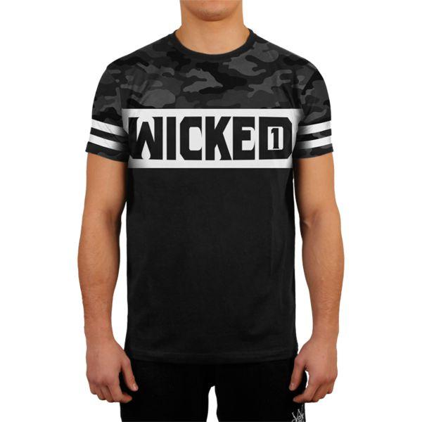 Футболка Wicked One Dope Camo And Black Wicked OneФутболки<br>Футболка Wicked One Dope Camo And Black. - Хлопок 200 грамм. Уход: машинная стирка, не отбеливать, деликатный отжим. Состав: 100% хлопок.<br><br>Размер INT: XL