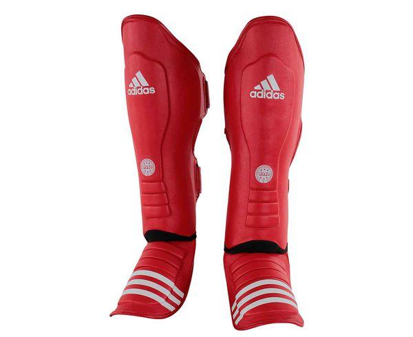 Защита голени и стопы WAKO Super Pro Shin Instep Guards красная Adidas