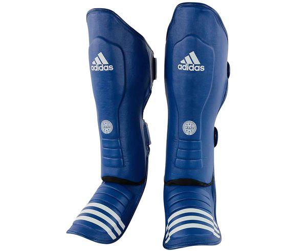 Защита голени и стопы WAKO Super Pro Shin Instep Guards синяя Adidas (adiWAKOGSS11)
