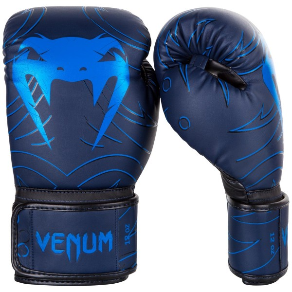 Боксерские перчатки Venum Nightcrawler Navy Blue, 12 oz Venum (PSd-venboxglove086)