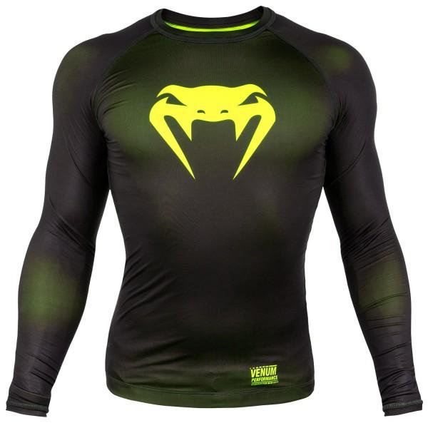 Компрессионная футболка Venum Contender 3.0 Black/Yellow L/S Venum