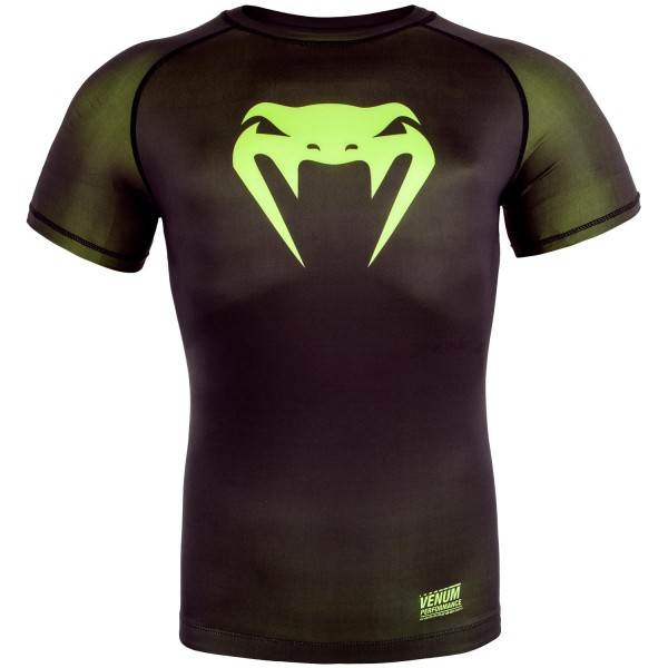 Компрессионная футболка Venum Contender 3.0 Black/Yellow S/S Venum