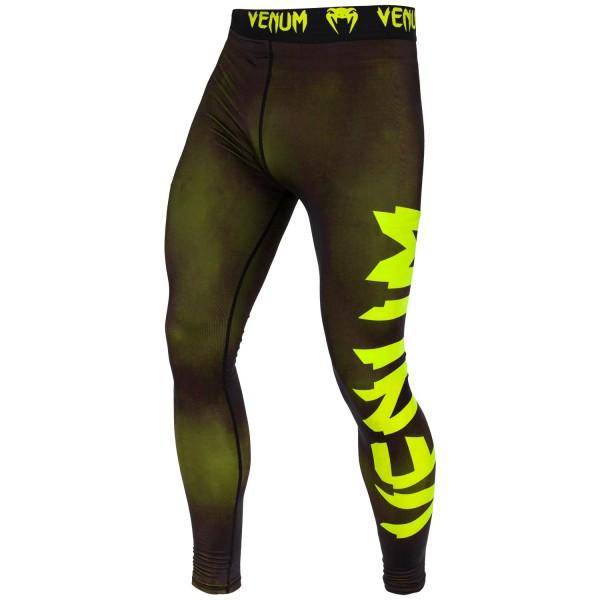 Компрессионные штаны Venum Giant Black/Yellow Venum
