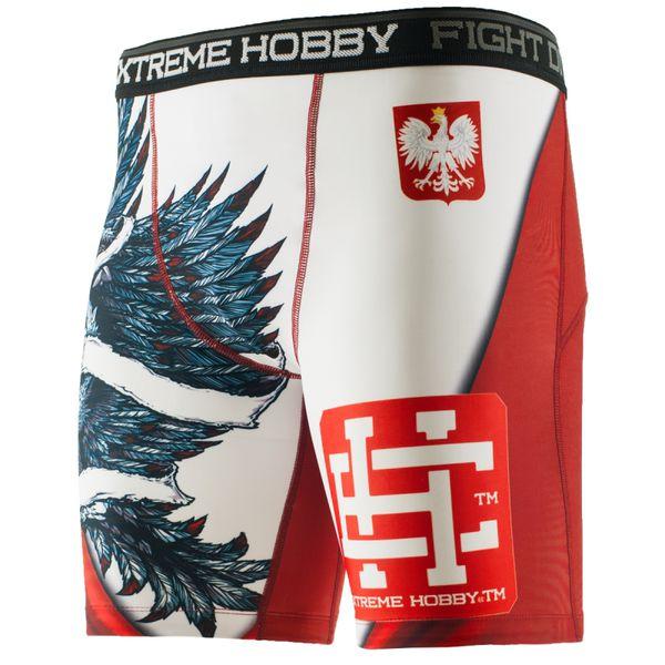 Шорты вале тудо polish eagle Extreme HobbyКомпрессионные штаны / шорты<br>Шорты изготовлены из высококачественного материала. Влагоотводящий материал позволяет оставаться телу сухим, а мышцы разогретыми. Рисунок нанесен по системе сублимации. Эластичная резинка на поясе предотвращает от соскальзывания во время боя.<br><br>Размер INT: S
