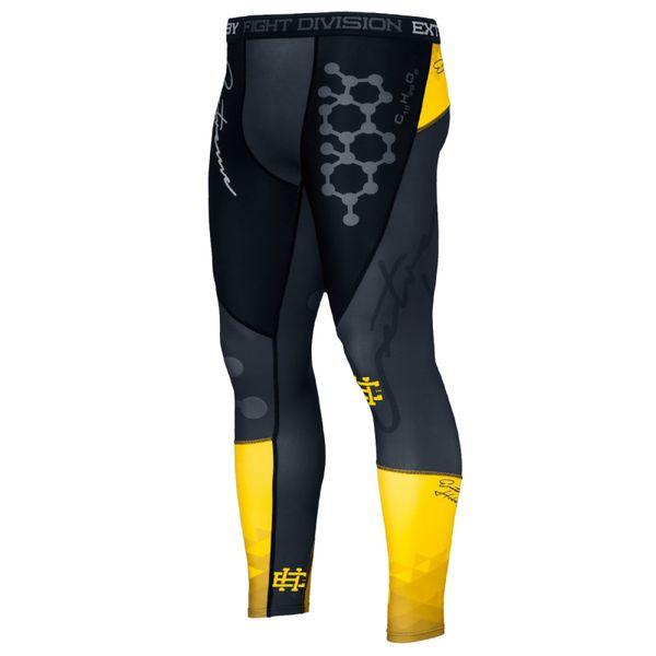 Штаны компрессионные rapid (желтый) Extreme HobbyКомпрессионные штаны / шорты<br>Леггинсы изготовлены из высококачественного материала. Водоотталкивающая ткань оставляет тело сухим, а мышцы разогретыми. Логотипы нанесены по технологии сублимации, благодаря чему рисунок не трескается и не царапает тело. Специальная резинка на талии предотвращает соскальзываение во время боя.<br><br>Размер INT: XL