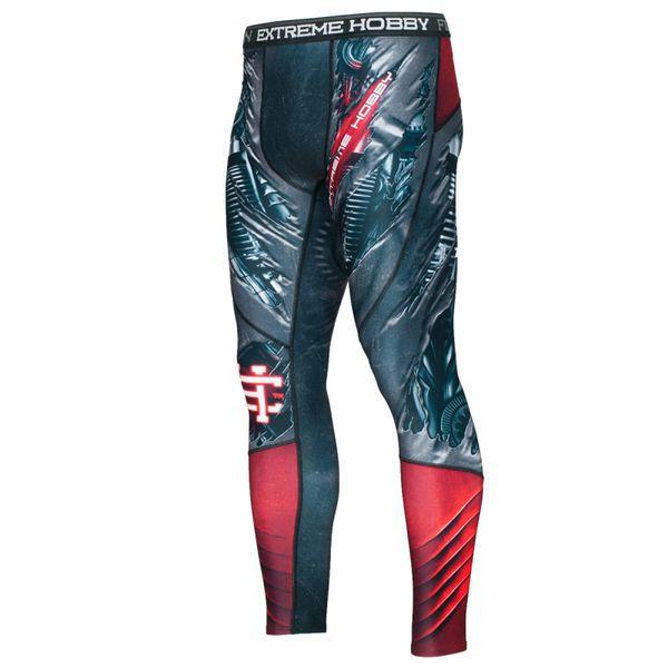 Штаны компрессионные t-800 Extreme HobbyКомпрессионные штаны / шорты<br>Леггинсы изготовлены из высококачественного материала. Водоотталкивающая ткань оставляет тело сухим, а мыщцы разогретыми. Логотипы нанесены по технологии сублимации, благодаря чему рисунок не трескается и не царапает тело. Специальная резинка на талии предотвращает соскальзываение во время боя.<br><br>Размер INT: XL