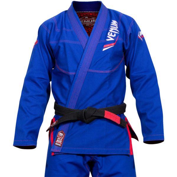 Кимоно для бжж Venum Elite Light Blue/Red Venum фото