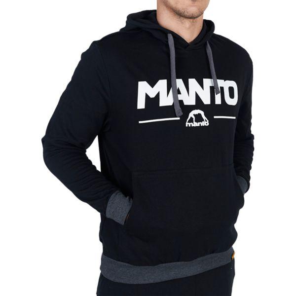 Толстовка Manto Combo Black Light MantoТолстовки / Олимпийки<br>Толстовка Manto Combo Black Light. Кофта с капюшоном. На фронтальной части кофты расположен карман-кенгуру. Плотная и теплая кофта! В меру простая, но очень стильная толстовка! Состав: 100% хлопок.<br><br>Размер INT: XL