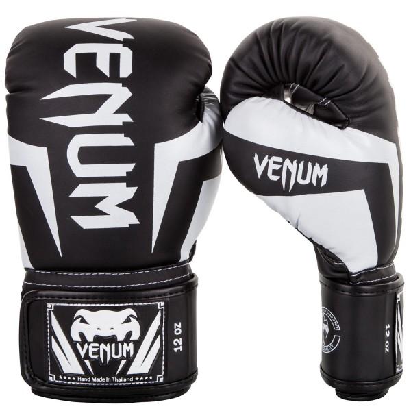 Перчатки боксерские Venum Elite Black/White, 16 унций Venum