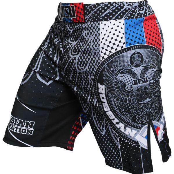 ММА шорты Jitsu Patriot JitsuШорты ММА<br>Шорты Jitsu Patriot. Данные шорты отлично подойдут для работы в партере и в стойке, для занятий мма, грепплингом, тайским боксом, кроссфитом и работой с железом. Для комфортного поединка предусмотрены боковые разрезы на бедрах. Удерживаются шорты с помощью липучек на фронтальной части шорт, резинке, расположенной по диаметру пояса, а так же благодаря шнурку, спрятанному во Внутренней части пояса. Рисунок на мма шортах Jitsu полностью сублимирован в ткань. Состав: 100% полиэстер. Уход: машинная стирка в холодной воде, не отбеливать.<br><br>Размер INT: L