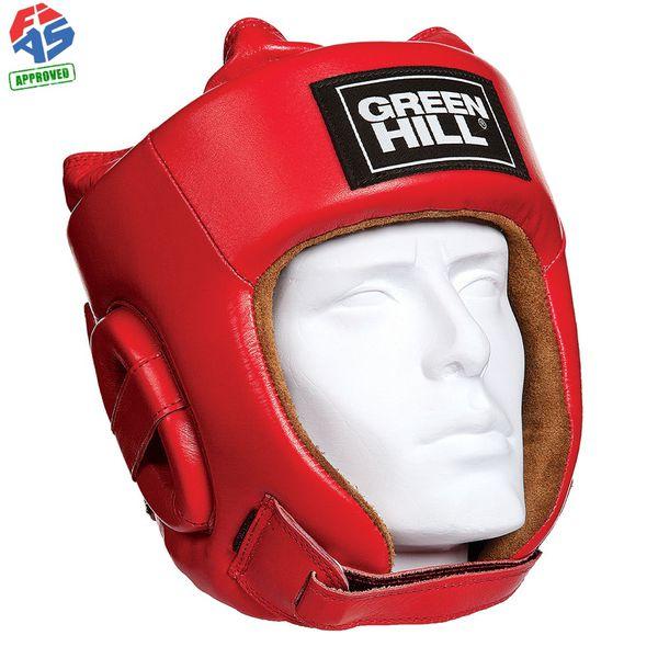 Шлем для боевого самбо Green Hill Five Star FIAS Approved, Красный Green HillБоксерские шлемы<br>Шлем Fivestar. Сделан из высококачественной натуральной кожи. Двойная система крепления (сверху и сзади), с фиксацией «липучкой» на подбородке, позволит максимально точно подогнать шлем по размеру. Отличный выбор не только для проведения соревновательных поединков, но и для тренировок. Размер: При подборе шлема следует также учесть, что размеры шлемов можно регулировать за счет специальных застежек. Для выбора шлемов, ориентируйтесь на следующие данные:охват головы - размер 48-53 см - S 54-56 см - М 57-60 см – L 61-63 см - XL<br>Лицензия FIAS для соревнований самого высокого уровня<br><br>Размер: XL